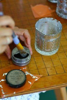 Mercury glass votives DIY « Nature Composed
