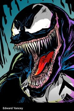We could all use a little more Venom. Phenomenal art courtesy of Edward Yancey.