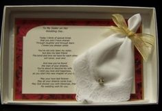 Perfect Wedding Gift For Sister : My Sister On My Wedding Day Gift Set--This gift set is a perfect gift ...