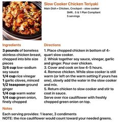 Lean Protein Meals, Lean Meals, Healthy Eating Habits, Healthy Cooking, Healthy Recipes, Green Chicken Recipe, Chicken Recipes, Crockpot Recipes, Cooking Recipes