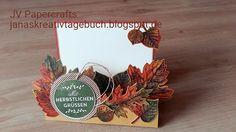 JV Papercrafts: Stampin up Vintage Leaves step card