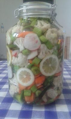Cooking Cake, Cooking Recipes, Healthy Recipes, Pickles, Diy And Crafts, Mason Jars, Recipies, Veggies, Food And Drink
