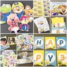 DIY Party Printables Package Alphabets Flag Pennant Banner x 1 set Round/ Scallop Tags x 30 Round Stickers x 30 Ta. Birthday Diy, Boy Birthday Parties, Birthday Party Decorations, Party Themes, Party Ideas, Themed Parties, Birthday Ideas, Pennant Banners, Party Hats