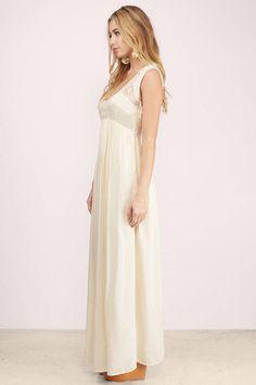 Maxi Dresses, Tobi, Cream A Sight Worth Seeing Dress