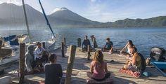 Top 10 Yoga Retreats in Guatemala Yoga Holidays, Lake Atitlan, Yoga Teacher Training, Yoga Retreat, Serenity, Mystic, Spiritual Retreats, Caribbean, Surfing