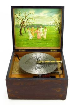 FABULOUS GERMAN VICTORIAN MUSIC BOX : Lot 99. by the Wilh Gabner Co. of Dresden Germany