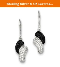 Sterling Silver & CZ Leverback Earrings. Product Type:Jewelry Jewelry Type:Earrings Earring Type:Drop & Dangle Material: Primary:Sterling Silver Material: Primary - Color:White Material: Primary - Purity:925 Length of Item:36 mm Width of Item:10 mm Sold By Unit:Pair Earring Closure:Leverback Stone Type_1:Cubic Zirconia (CZ) Stone Creation Method_1:Synthetic Stone Treatment_1:Synthetic Stone Color_1:Clear Stone Quantity_1:144 Stone Type_2:Cubic Zirconia (CZ) Stone Creation…