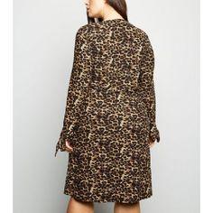 d8398f3d5effa Blue Vanilla Curves Brown Leopard Print Soft Touch Dress New Look