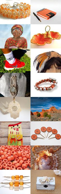 O is for Orange and White ---how nice by Charlene on Etsy--Pinned with TreasuryPin.com