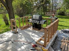 Post with 240226 views. My outdoor kitchen is finally complete! (Pics, Details, Tips) Outdoor Grill Area, Outdoor Grill Station, Outdoor Kitchen Patio, Outdoor Kitchen Design, Outdoor Living, Outdoor Decor, Outdoor Kitchens, Diy Bbq Area, Outdoor Barbeque