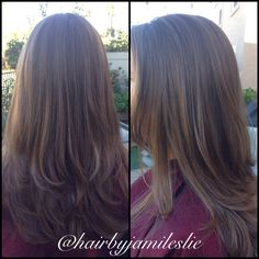 Gorgeous fall color and layered haircut. Hair by Jami Leslie. Tiger Tail Salon- Carlsbad CA