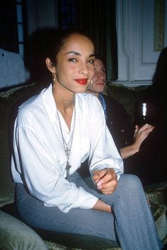 """""""Sade photographed in 1986 by Peter Anderson. """""""