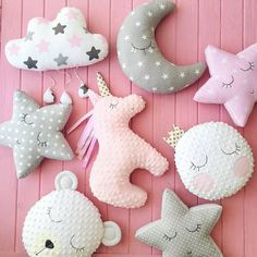 Ideas Sewing Crafts For Girls Fabrics Baby Gifts To Make, Handmade Baby Gifts, Baby Girl Gifts, Sewing Toys, Baby Sewing, Sewing Crafts, Sewing Projects, Sewing Ideas, Unicorn Pillow