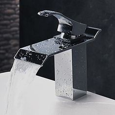 Contemporary Stainless Steel Bathroom Sink Faucet - Chrome Finish…