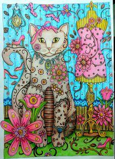 Inspirational Coloring Pages Cats Inspiracao Coloringbooks Livrosdecolorir Jardimsecreto Secretgarden