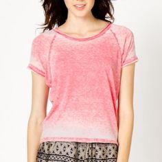 A-Thread Tops - Red Burnout Tee