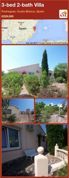 3-bed 2-bath Villa in Pedreguer, Costa Blanca, Spain ►€229,000 #PropertyForSaleInSpain