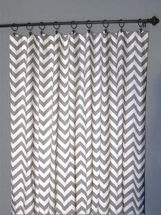 84 Grey Zig Zag Curtains  Two Chevron by DesignerPillowShop, $110.00