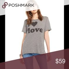 Chaser I ❤️ Love Graphic Tee What a flawless graphic from Chaser! 50% Polyester 38% Cotton 12% Rayon Model is wearing a medium Chaser Tops Tees - Short Sleeve