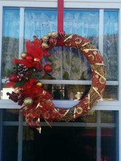 Christmas wreath I made for Tops fall fair