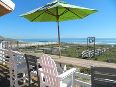 Kure Beach NC - Oceanfront home with private walkway, large. Kure Beach, Rental Homes, Walkway, Dog Friends, Deck, Houses, Patio, Vacation, Outdoor Decor