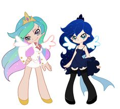 Luna and Celestia by *the-Orator on deviantART - Cheryl will be Celestia and I'll be Luna and it'll be awesome