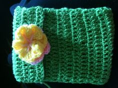 Crocheted tablet/ereader case I made fits Samsung galaxy tab 2 and other ereaders