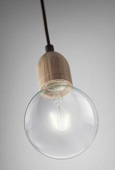 Ilde Wood by @davidabad , with LED bulbs. #lighting #lámparas