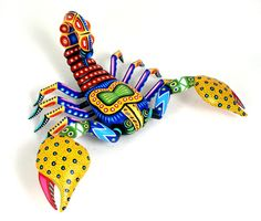 Oaxacan Wood Carving of a scorpion. By Luis Pablo