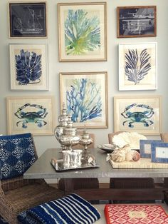 I Need Your Help! Eclectic Gallery Walls - laurel home | fabulous art wall by Waterleaf Interiors