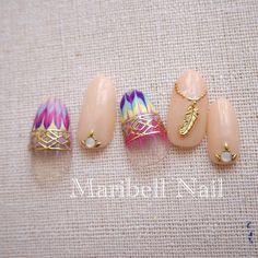 かわいいネイルを見つけたよ♪ #nailbook Manicure Y Pedicure, Shellac Nails, Indian Nails, Japanese Nail Art, Gel Nail Designs, Fabulous Nails, Gel Nail Art, Simple Nails, Nail Arts