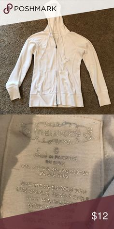 Maurices White Hooded Zip-up Maurices White Hooded Zip-up Size Small Maurices Tops Sweatshirts & Hoodies