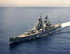 "USS St.Paul,1968, heavy cruiser, 9-8"" guns in three turrets"