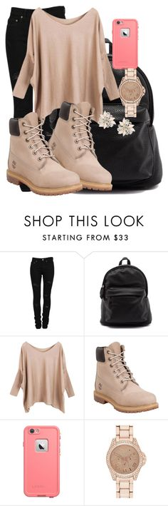 """school"" by th3-qu33n-25 on Polyvore featuring Yves Saint Laurent, Timberland, LifeProof, River Island and Cara"