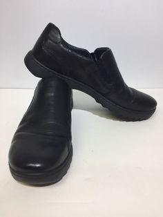 88ffdaf1686 Mens Size 11 Born Black Leather Slip Ons Casual Loafer Moc  fashion   clothing