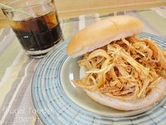 Doesn't this look great! Slow Cooker Captain & Coke Pulled Chicken  Via Jessi @ Practically Functional