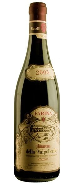 Eh questa si che è una signora bottiglia!  Amarone della valpolicella 2005! tutto il Mondo c'è lo invidia!  Cheers!
