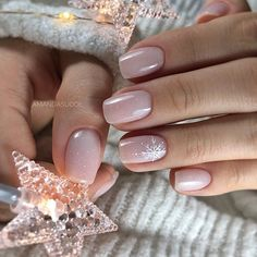 Christmas Nail Art Designs To Look Trendy This Season winter pink nail art , winter nail art , snowflake . - Christmas Nail Art Designs To Look Trendy This Season winter pink nail art , winter nail art , snowflake nail art - Nail Design Spring, Winter Nail Designs, Winter Nail Art, Winter Nails, Elegant Nail Designs, Winter Makeup, Short Nail Designs, Winter Art, Cute Nails