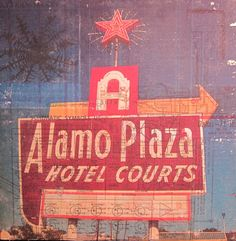 Texas Art - Motel Sign - Love this!