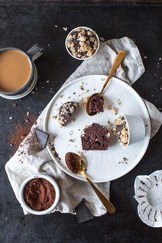 Gesunde Schokoladen-Bananen Muffins, glutenfrei und vegan - freiknuspern