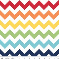 Riley Blake Designs - Chevron - Large Chevron in Rainbow - purchase here