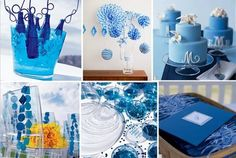 Blue and Green Striped Baby Shower