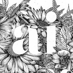 littlepatterns Close up on some hand drawn inky florals and a big, beautiful serif font Botanical Art, Close Up, Hand Lettering, How To Draw Hands, Fonts, Typography, Serif Font, Graphic Design, Drawings