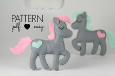 Horse Sewing Pattern - Felt Horse Pattern - Pony Sewing Pattern -  Softie - Plush - Toy - Topper - Baby Mobile - Animal Pattern - Ornament by MaisieMooNZ on Etsy https://www.etsy.com/listing/474084531/horse-sewing-pattern-felt-horse-pattern