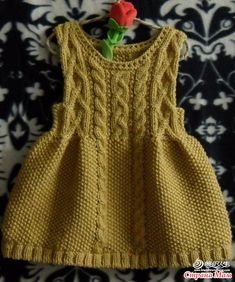 Super Crochet Patterns For Girls Cardigans Doll Clothes 37 Ideas Girls Knitted Dress, Knit Baby Dress, Knitted Baby Clothes, Crochet Girls, Crochet Cardigan, Knit Crochet, Knitting For Kids, Baby Knitting Patterns, Crochet Patterns