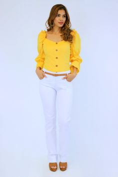 Outfits Primavera, Cute Dresses, White Jeans, Floral Design, Fresh, Casual, Sweaters, Shirts, Clothes