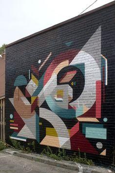 Global Street Art • Loving the geometry by Nelio in Toronto.