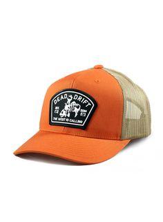 Dead-Drift-Fly-Fishing-Hats-Bucking-Trout-Orange-Trucker.jpg
