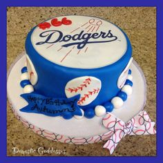 Dodgers Cake for daddy Dodgers Cake, Dodgers Party, Sons Birthday, Birthday Parties, Birthday Cakes, Sport Cakes, Cakes For Men, Fancy Cakes, Candy Buffet
