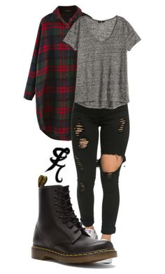 Clary Fray 2 by tannaleah on Polyvore featuring moda, H&M, Dr. Martens, tmi, ShadowHunter, CityOfBones, Clary and fray